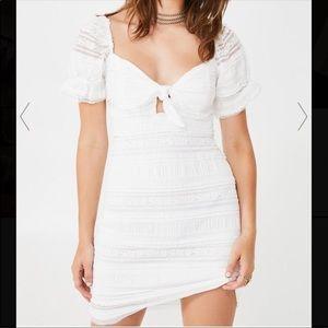 STORIA WHITE MINI DRESS S